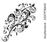 floral decorative ornament.... | Shutterstock .eps vector #1037978644