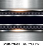metallic background polished... | Shutterstock .eps vector #1037981449