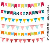 bunting and garland set  jpg... | Shutterstock . vector #103798163