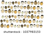 people  drawn faces | Shutterstock . vector #1037983153