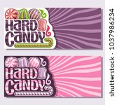 vector banners for hard candy... | Shutterstock .eps vector #1037986234