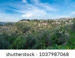 scenic view of ein karem   an...   Shutterstock . vector #1037987068