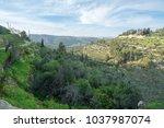 scenic view of ein karem   an...   Shutterstock . vector #1037987074