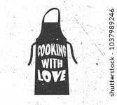 illustration with apron and... | Shutterstock .eps vector #1037989246