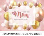 happy mother s day background... | Shutterstock . vector #1037991838