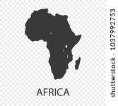 map of africa | Shutterstock .eps vector #1037992753