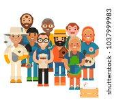 farmer character man... | Shutterstock .eps vector #1037999983