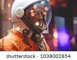 suit of an astronaut ... | Shutterstock . vector #1038002854