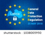 gdpr   general data protection... | Shutterstock .eps vector #1038005950