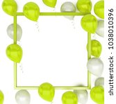 yellow green and white baloons...   Shutterstock . vector #1038010396