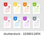 infographic design business... | Shutterstock .eps vector #1038011854