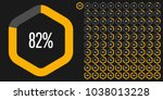 set of hexagon percentage... | Shutterstock .eps vector #1038013228