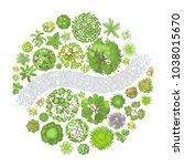 vector illustration. landscape... | Shutterstock .eps vector #1038015670