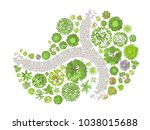 vector illustration. landscape... | Shutterstock .eps vector #1038015688