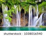plitvice lakes national park | Shutterstock . vector #1038016540