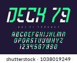 deck 79 vector futuristic... | Shutterstock .eps vector #1038019249