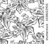 beautiful  seamless pattern... | Shutterstock .eps vector #1038022903