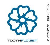 flower from the teeth logo | Shutterstock .eps vector #1038027109