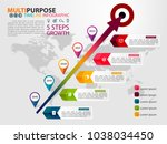 infographic timeline template... | Shutterstock .eps vector #1038034450