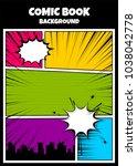 pop art comics book magazine... | Shutterstock .eps vector #1038042778