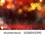 blurred background with bokeh.... | Shutterstock . vector #1038043390