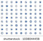 web icon collection with... | Shutterstock .eps vector #1038044458