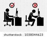 position  stick figure | Shutterstock .eps vector #1038044623