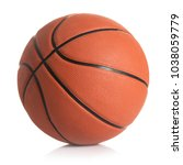 Basketball Ball Against White...