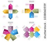 set of business infographics ... | Shutterstock .eps vector #1038060559