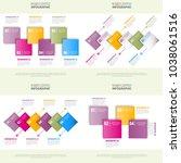 set of business infographics ... | Shutterstock .eps vector #1038061516