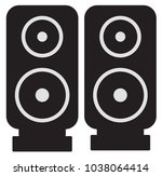 speaker icon with black color | Shutterstock .eps vector #1038064414