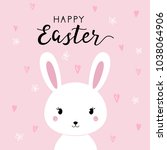 happy easter background with... | Shutterstock .eps vector #1038064906