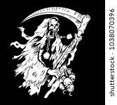 grim reaper vector black and...   Shutterstock .eps vector #1038070396