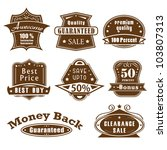 vector illustration of vintage... | Shutterstock .eps vector #103807313