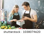caucasian sellers have found... | Shutterstock . vector #1038074620