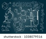 chemical formula and outlines... | Shutterstock .eps vector #1038079516