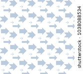 dotted arrow pattern for your...   Shutterstock .eps vector #1038088534