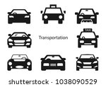 solid icons for black car front ... | Shutterstock .eps vector #1038090529