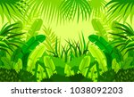 tropical forest.  child. design.... | Shutterstock .eps vector #1038092203