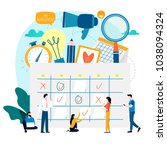 time management  planning... | Shutterstock .eps vector #1038094324