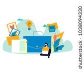 freelancer career  graphic... | Shutterstock .eps vector #1038094330