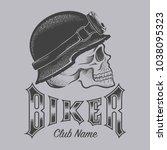skull biker vector | Shutterstock .eps vector #1038095323