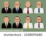 businessman avatar with...   Shutterstock .eps vector #1038095680