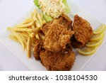 Small photo of chicken broasted plats with fries