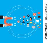 target market concept ... | Shutterstock .eps vector #1038105319