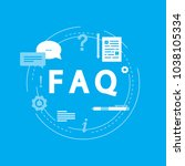 faq concept  frequently asked... | Shutterstock .eps vector #1038105334