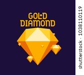 gold diamond  diamond  gold ... | Shutterstock .eps vector #1038110119