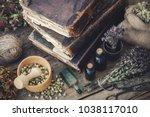 tincture bottles  assortment of ... | Shutterstock . vector #1038117010
