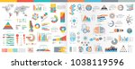 a collection of infographic... | Shutterstock .eps vector #1038119596