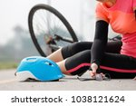 accident car crash with bicycle ...   Shutterstock . vector #1038121624